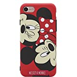 MC Fashion iPhone 7 Case, iPhone 8 Case, Cute Cartoon Matte Finish Case for Teens Girls Women, Ultra Slim Soft TPU Case for Apple iPhone 7 and iPhone 8 4.7-inch (Minnie & Mickey)