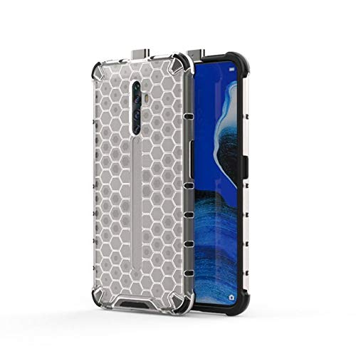Casodon Bump Side Air Cushion Honeycomb Pattern Luxury Back Case Cover for Oppo Reno 2Z [Protective + Anti Shock Proof CASE] - Transparent 121