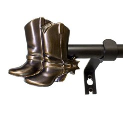 Cowboy Boots Curtain Rod Set