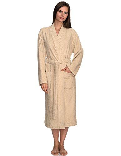 TowelSelections Women's Robe Turkish Cotton Terry Kimono Bathrobe Large/X-Large Angora