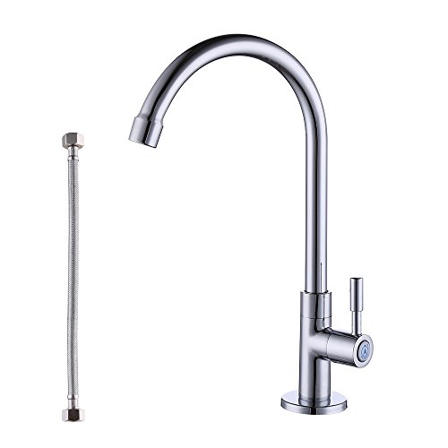 KES Lead-Free Faucet for Kitchen Sink Replacement Single Handle Cold Water Faucet Brass Chrome, K8001A1LF