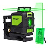 Huepar 901CG Self-Leveling Laser Level, 360 Green Beam Cross Line Laser Tool, Alignment 360-Degree Horizontal Line with Pluse Mode, Magnetic Pivoting Base Included