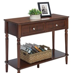 Convenience Concepts French Country Two-Drawer Hall Table, Espresso