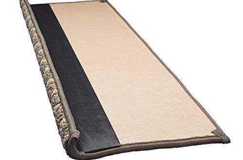 Jardin Wool Inspired Bullnose Carpet Stair Tread With Adhesive | Single Carpet Stair Treads | Stair Runner | Adhesive Padding | Wood | Sisal Stair | Non Slip