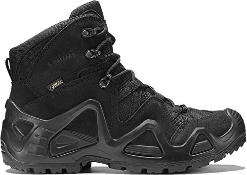 Lowa Mens Zephyr Gore-Tex Mid Task Force Military Hiking Leather Boots (12 US, Black)