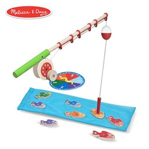 Melissa & Doug Catch & Count Wooden Fishing Game (Developmental Toy, 2 Magnetic Rods, Great Gift for Girls and Boys – Best for 3, 4, and 5 Year Olds) 41L5DR6HiiL