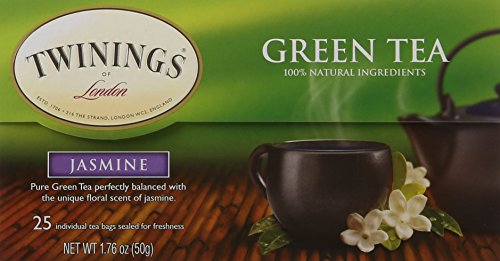 Twinings Green Tea with Jasmine, 25 Count