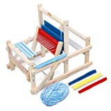 Lavievert Wooden Multi-Craft Weaving Loom DIY Hand-Knitting Weaving Machine Intellectual Toys for Kids