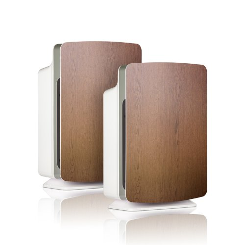 Alen BreatheSmart Classic Customizable Air Purifier with & HEPA Filter for Everyday Allergens and Dust, 1100 Sq. Ft., in Oak, 2-Pack
