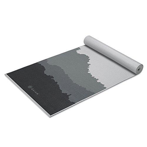 Gaiam Premium Print Yoga Mat, Granite Mountains, 5/6mm