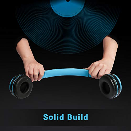 Maono AU-D422L Over-Ear Bluetooth Wireless Headphones with Built in Mic (Blue and Black) 7