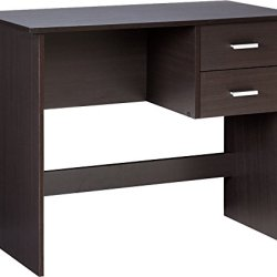 OneSpace Modern Writing Desk with 2 Side Drawers, Espresso