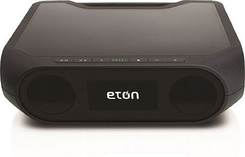 Eton NRKS400B Rugged Rukus Xtreme All-Terrain Portable Solar Wireless Sound System, Black