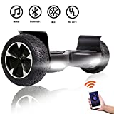 SISIGAD Off Road Hover Board, Bluetooth Hoverboard, 8.5 Inch Two-Wheel Self Balancing Hoverboard Electric...