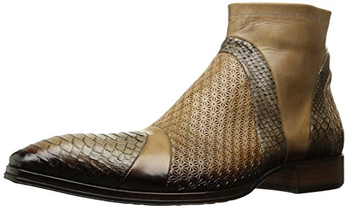Jo Ghost Men's Bogota` Ankle Bootie, Luggage, 10.5 US/10.5=43.5 M US