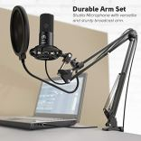 FIFINE-Studio-Condenser-USB-Microphone-Computer-PC-Microphone-Kit-with-Adjustable-Scissor-Arm-Stand-Shock-Mount-for-Instruments-Voice-Overs-Recording-Podcasting-YouTube-Karaoke-Gaming-Streaming-T669