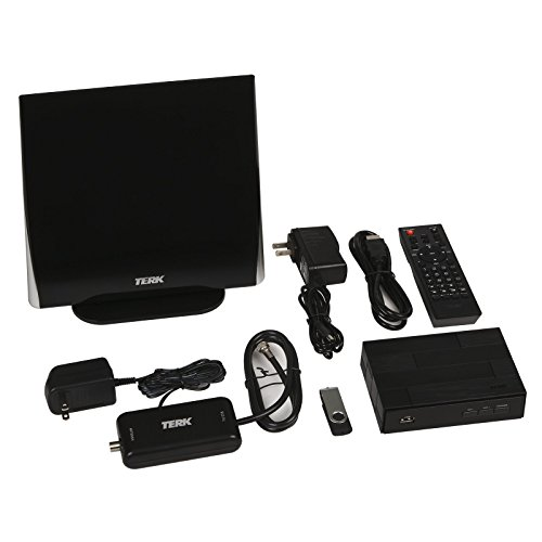 Terk Complete Cord Cutter Kit – Record Live TV with The Digital Converter Box & HDTV Antenna Bundle