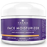 Organic Face Moisturizer For Dry Sensitive Combination Skin, Best Hydrating Face Cream Face Lotion Daily Eye & Facial Care, Natural Anti aging Anti Wrinkle Hyaluronic Acid Serum, Women Men Day Night