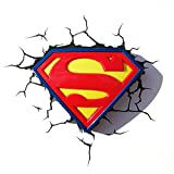 3DLightFX Warner Bros DC Comics Superman Crest 3D Deco Light