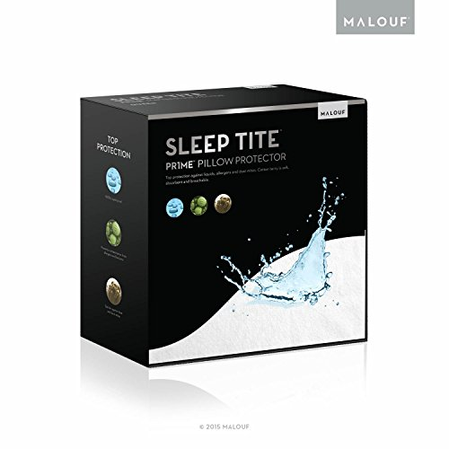 SLEEP TITE by Malouf Pillow Protector Set of 2 - Queen - 100% Waterproof-Eliminates