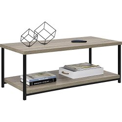 Ameriwood Home Elmwood Coffee Table, Weathered Oak