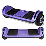 TPS Hoverboard Self Balancing Scooter with Speaker LED Lights Flashing Wheels for Kids and Adults Hover Board - UL Certified (Purple)