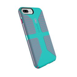 Speck Products CandyShell Grip Cell Phone Case for iPhone 8 Plus/7 Plus/6S Plus/6 Plus - Caribbean Blue/Bubblegum Pink