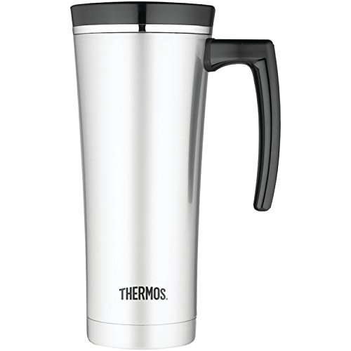 Thermos 16 Ounce Vacuum Insulated Travel Mug, Black
