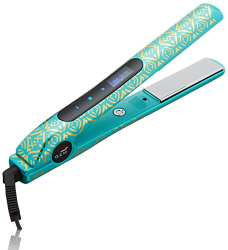 "Includes styling iron, heat-resistant bag, and three hair clips. 1"" GEMZ zirconium and titanium plates. Pre-set temperatures: Low 370F for fine hair, Medium 390F for medium hair, High 410F for coarse hair; plus adjustable temperature settings Auto temperature lock and 30-second heat up"
