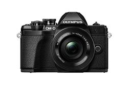 Olympus OM-D E-M10 Mark III Mirrorless Micro Four Thirds Digital Camera with 14-42mm EZ Lens & 16GB SDHC Card (Black) (Black)