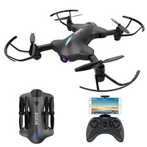 ATOYX WiFi FPV 720P HD Camera,Real-Time Video Portable Drone wtih App Control,Headless Mode,3D Flip,One Button Take Off/Landing,Suitable for Kids and Beginners 41Lv1 2B0ookL