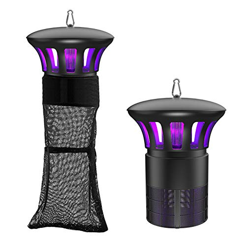 Wohouse Mosquito Insect Killer Pests Trap Lamp, Non-Toxic Electric UV Light Photocatalyst Fly Bug Zapper with Suction Fan for Indoor Outdoor Farm Ranch