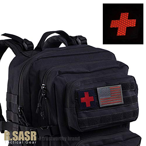 R.SASR Bundle 4 Pieces – Reflective Medic Patches, Tactical Medical Patches, Hook-Fastener Backing 2×2 inch (Mix) deal 50% off 41Lzo4Z9suL