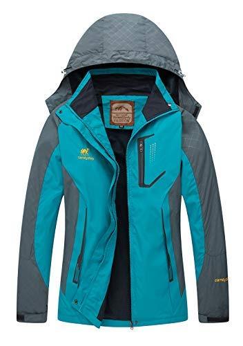 Diamond Candy Rain Jacket Women Hooded Lightweight Softshell Hiking Waterproof Coat