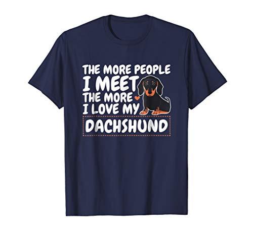 Cute Dachshund T-Shirt - I Love My Dachshund