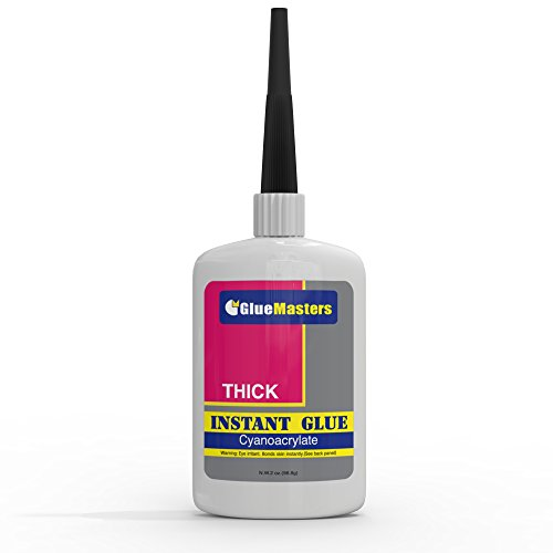 Professional Grade Cyanoacrylate (CA)'Super Glue' by Glue Masters - 56 Grams - Thick Viscosity Adhesive for Plastic, Wood & DIY Crafts