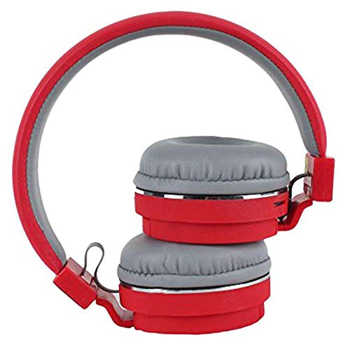 WOCKEEZ SH12 Bluetooth Headphone Stretchable/Foldable Wireless Stereo Over Ear Headphone with Music & Calling Control FM and SD Card Slot for All Smartphones