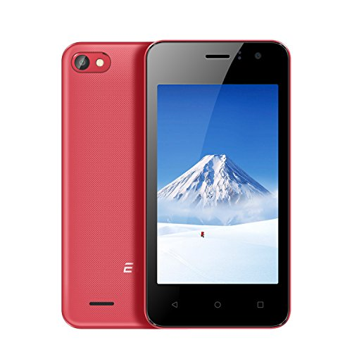 EL W40 Unlocked Cell Phone Dual Sim Smartphone 3G WCDMA Android 7.1-4.0 16:9 Screen Ratio Camera 0.3MP (Red)