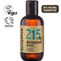 Naissance Pure Sweet Almond 3.4 fl oz/ 100ml. - Vegan, No GMO - Ideal for Haircare and Skincare, Aromatherapy and as a Massage Base Oil