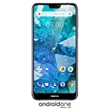 Nokia 7.1 - Android One (Pie) - 64GB - 12+5MP cámara Dual - Dual SIM Smartphone Desbloqueado, Azul