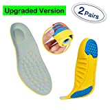 Professional Sports Insoles (2 Pairs) Sports Shock Absorption Shoes Insoles Plantar Fasciitis Orthotic Heel Pain Relief Memory Foam Inserts (S: Men's 2-5 / Women's 4-5.5 / Kids 1.5-4)