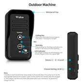 Wuloo-Wireless-Intercom-Doorbells-for-Home-Classroom-Intercomunicador-Waterproof-Electronic-Doorbell-Chime-with-12-Mile-Range-3-Volume-Levels-Rechargeable-Battery-Including-Mute-ModeBlack-12