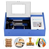 Laser Cutter-SUNCOO K40 Laser Engraver DIY Engraving Machine for Wood, Glass, Acrylic 40W CO2 with USB Port Only for Windows System 12x8' (Blue)
