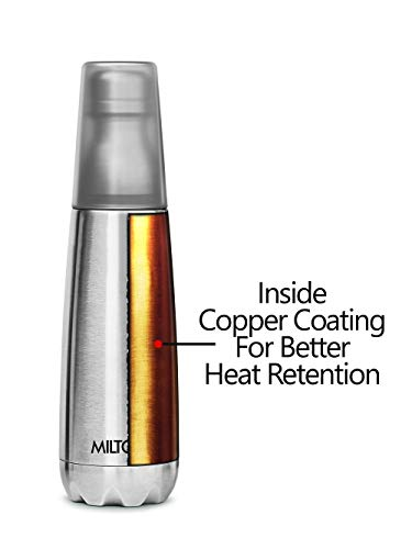 41MT1KfnBcL - Milton Vertex -750 Thermosteel  Water Bottle with Unbreakable Tumbler, 750 ml, Silver