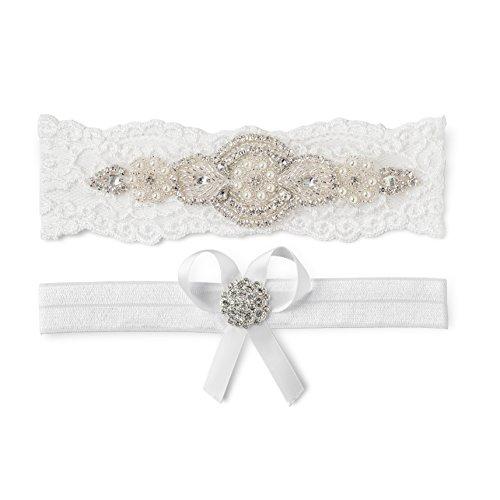 Beach Wedding Garter: Wedding Bridal Garter Set White Ivory Champagne Lace Pearl