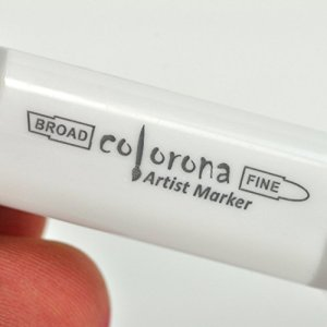 Colorona Premium Double Ended Alcohol Based Colorless Art Marker, Superior Ink Graphic Dual Twin Tip Blend Able Permanent Sketch Pen, Fine and Brush Point