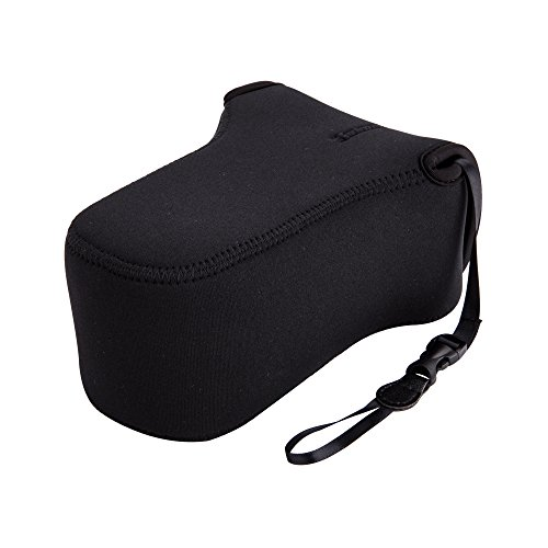 JJC-Neoprene-Camera-Case-Protective-Sleeve-Pouch-for-Canon-EOS-M50-M5-M6-Mark-II-EF-M-55-200mmEF-M-18-150mm-LensFuji-Fujifilm-X-T30-X-T20-X-T10-X-T100-X-E3-XF-55-200mmXC-50-230mm-Lens-and-More
