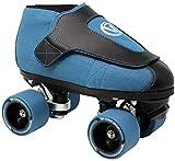VNLA Code Blue Jam Skate - Mens & Womens Speed Skates - Quad Skates for Women & Men - Adjustable Roller Skate/Rollerskates - Outdoor & Indoor Adult Quad Skate - Kid/Kids Roller Skates (Size 9)