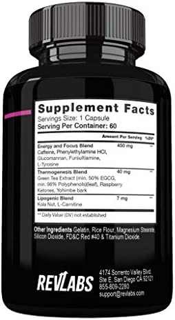 Rev Labs | Rev Burn | Thermogenic Fat Burner | The #1 Ground Breaking Fat Burning Amplifier Diet Pill for Men and Women, Carb Blocker & Appetite Suppressant, Weight Loss Pills, 60 Cap 2