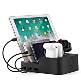 Charging Station Charger Stand Docking Organizer Compatible for Airpods Apple iWatch iPhone iPad Tablets and Smart Cell Phones Multiple Devices